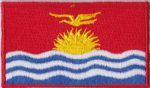 Kiribati Embroidered Flag Patch, style 04